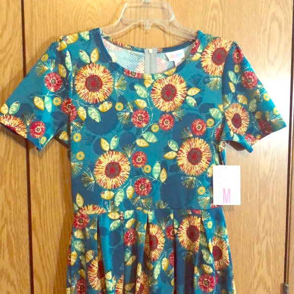 4c6d402444bf7 LuLaRoe Dresses | Sunflower Amelia Dress Size M | Poshmark